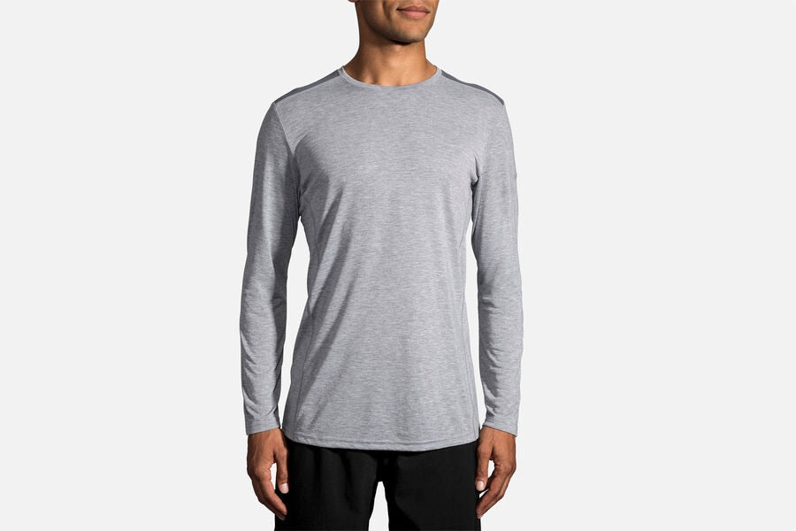 Men's Distance LS (024 - Heather/Asphalt)