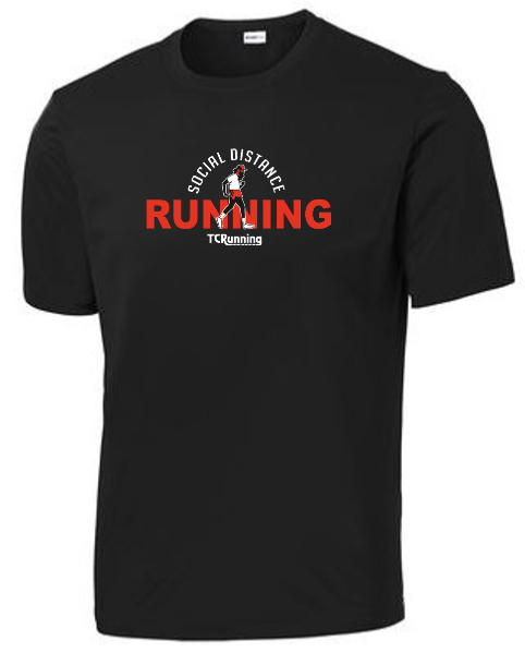 Men's Social Distance Running Tee (black)