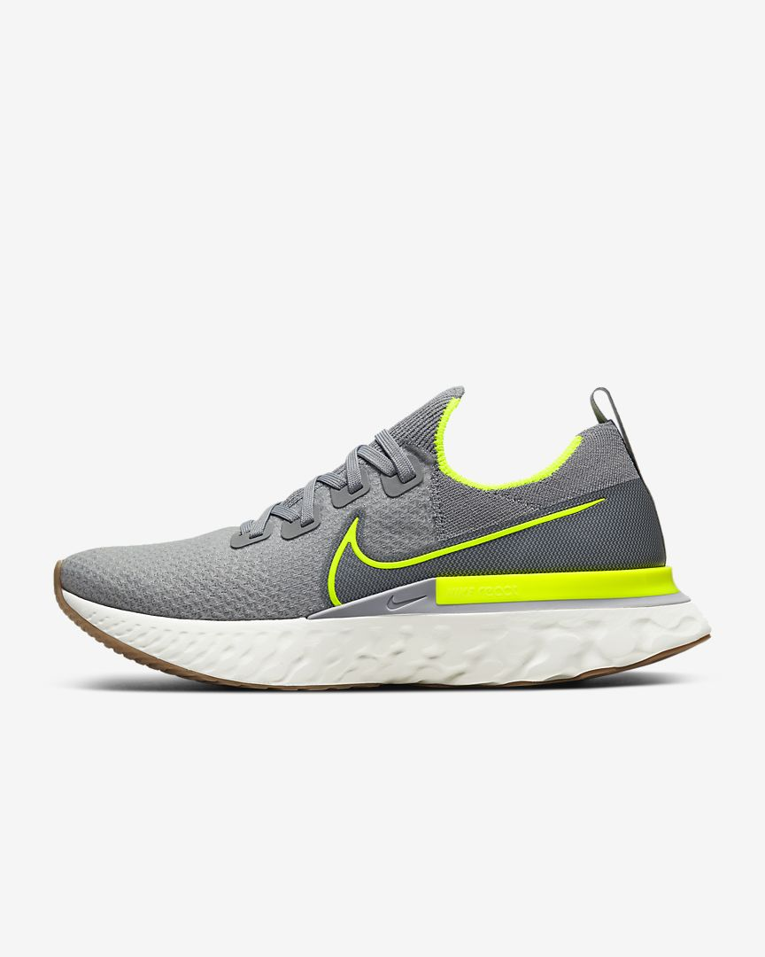 Men's React Infinity Run Flyknit (008 - particle grey/wolf grey/sail/volt)