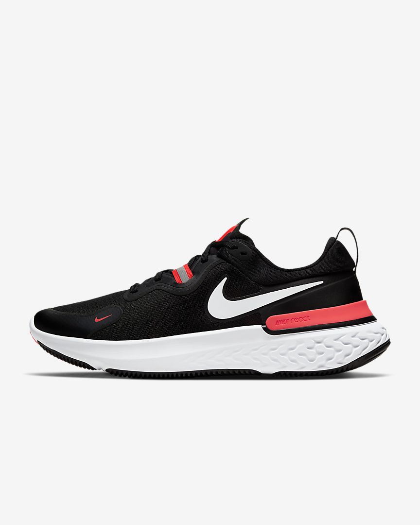 Men's React Miler (001 - black/laser crimson/oil)