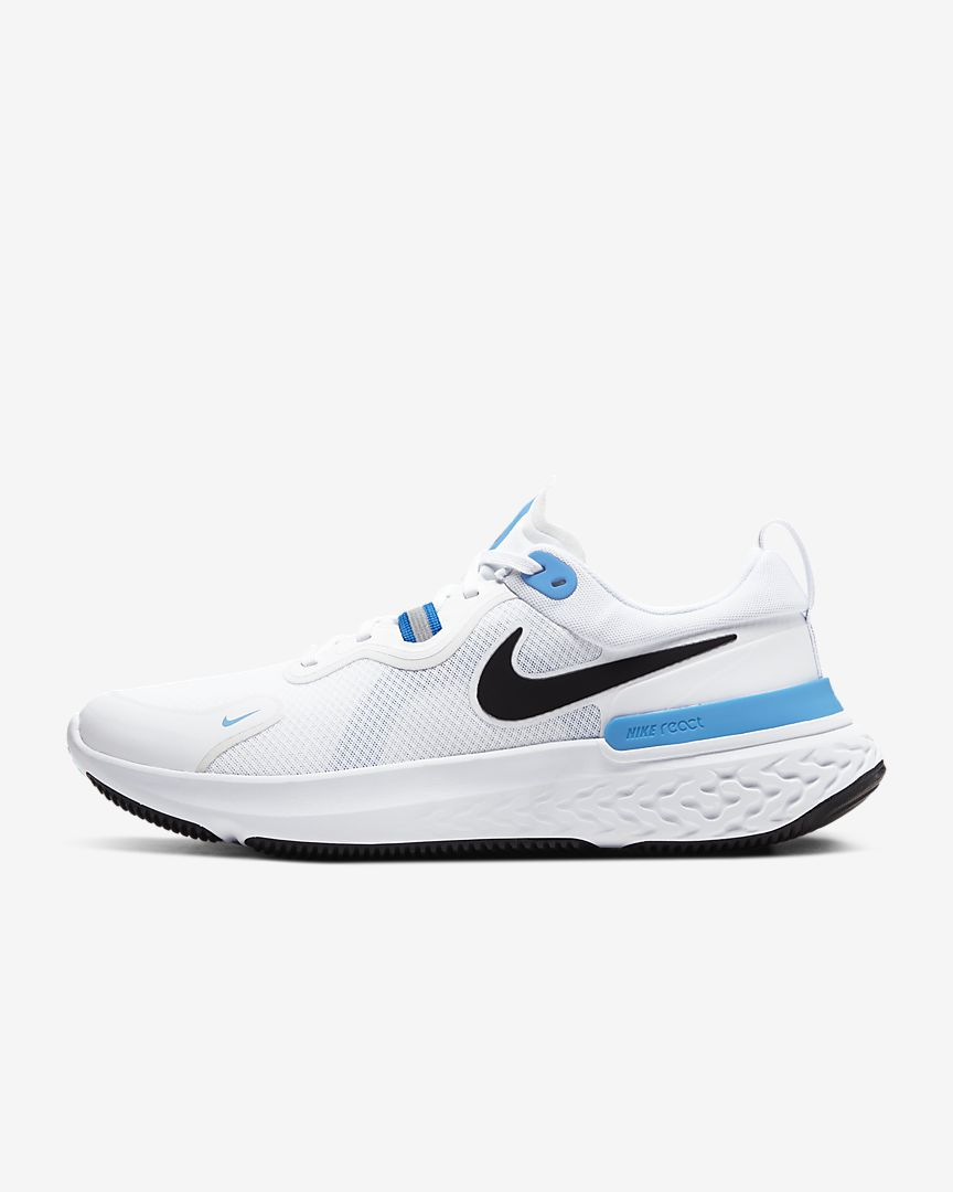 Men's React Miler (100 - white/photo blue/black)