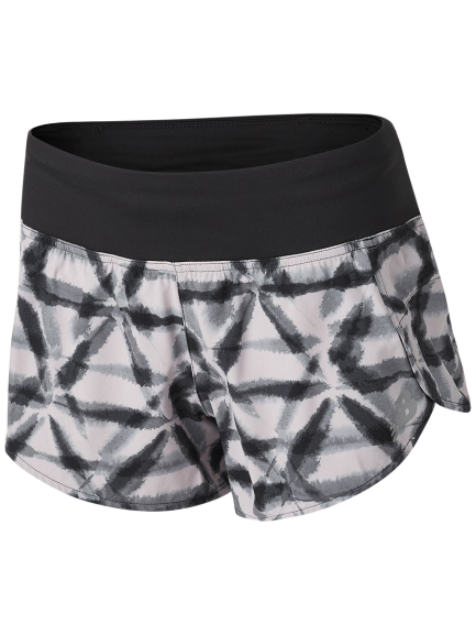 "Women's Printed Impact Run Short 3"" (LWD - logwood)"
