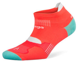 Hidden Dry Running Socks Neon Coral/Aqualine