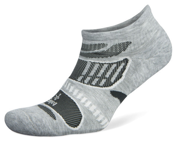 UltraLight No Show Running Socks Grey/White