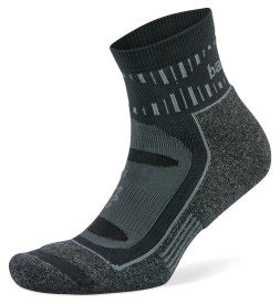 Blister Resist Quarter Running Socks Grey/Black