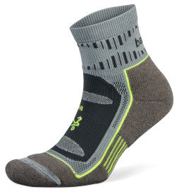 Blister Resist Quarter Running Socks (Mink/Grey)