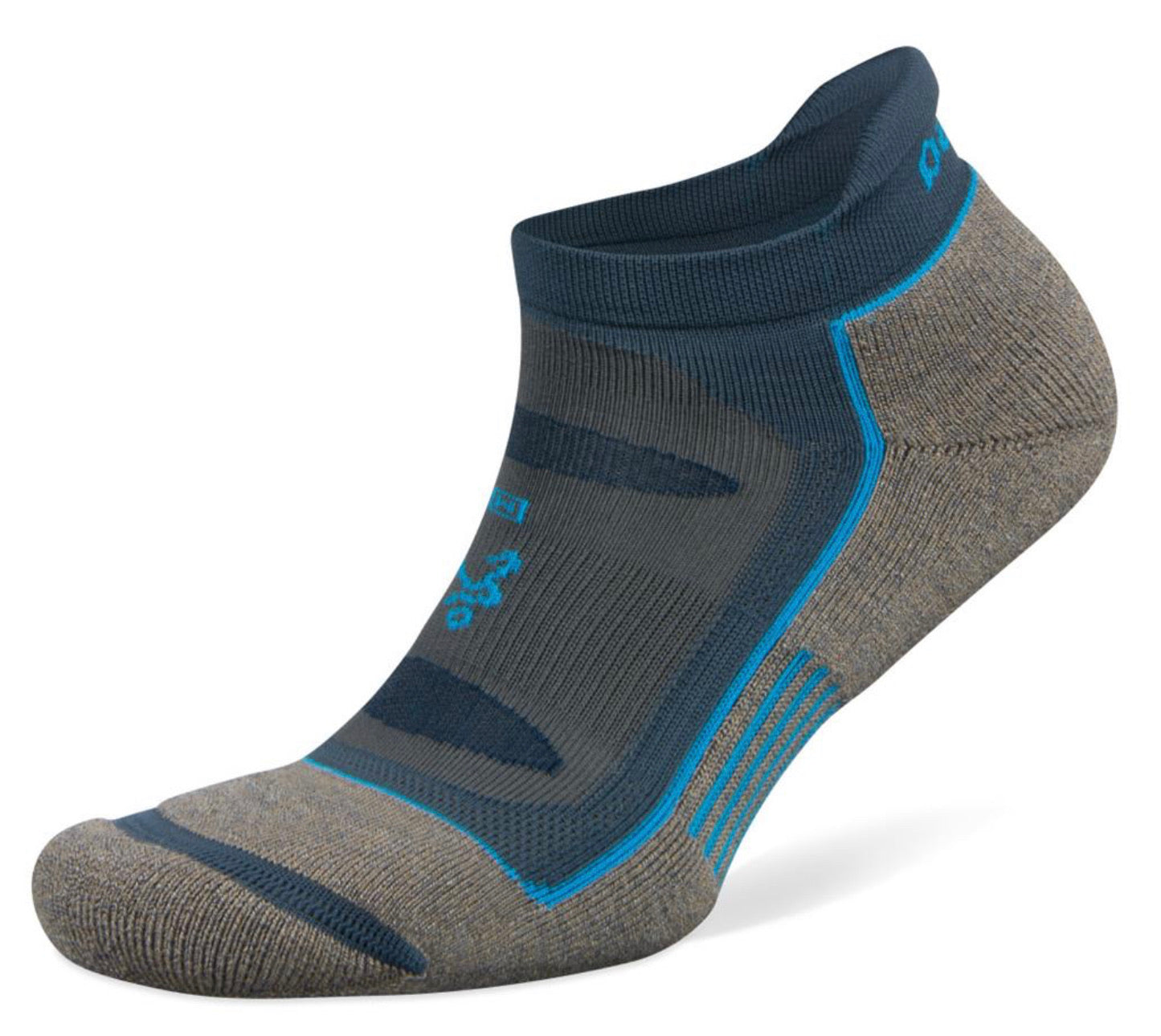 Blister Resist No Show Running Socks (Mink/Legion Blue)