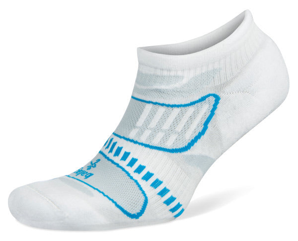 UltraLight No Show Running Socks White/French Blue