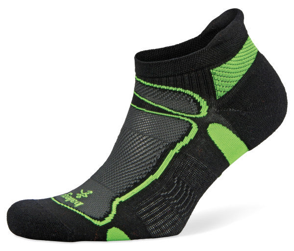 UltraLight No Show Running Socks (Black/Lime)