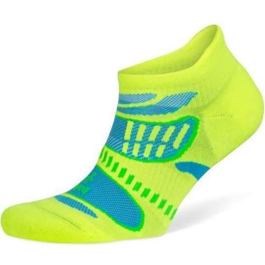 UltraLight No Show Running Socks Neon Lime