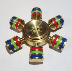 New Version Hexagonal Hand Spinner 100% Brass Fidget Toy 2017