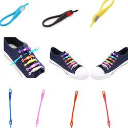 10 PCS /pack No Tie Shoelaces Unisex Elastic Silicone Shoe (Men & Women)