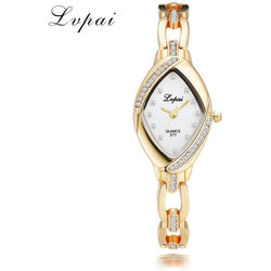 HQ Thin Oval Rhombus Wrist Ladies Watches