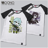 Anime Sword Art Online T Shirt TShirt 100% Cotton Short Sleeve