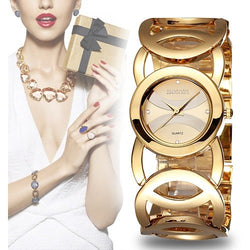 Luxury Crystal Gold Watches Women Fashion Bracelet Watch