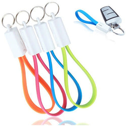Portable Key Chain Micro USB Charger Cable Cord  (Android & iphone )