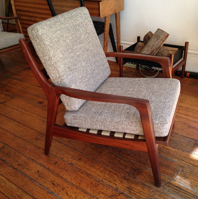 Pair of Solid Teak Danish Lounge Chairs