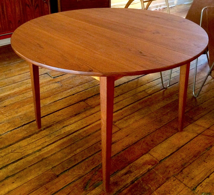 Scandinavian Round Teak Dining Table