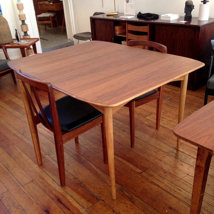 1960s Oval Walnut Dining Table