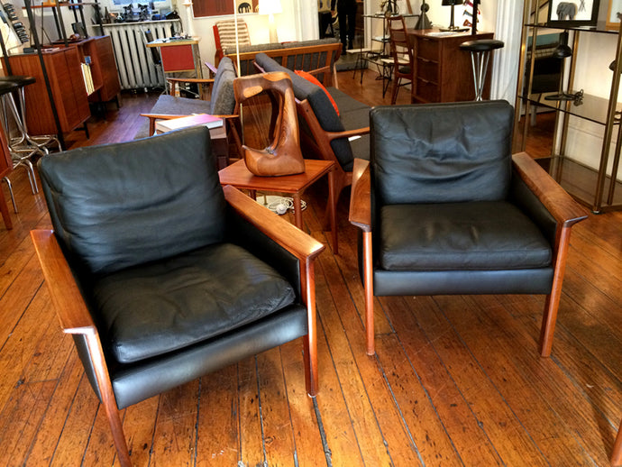 Hans Olsen Rosewood Lounge Chairs