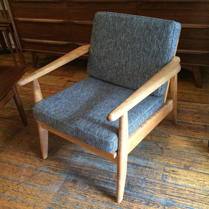 Mid Century Maple Lounge Chair