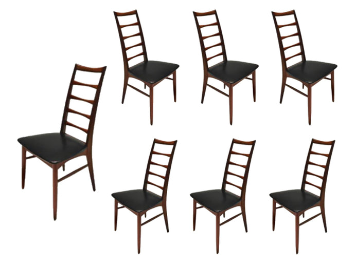 Set of Lis Rosewood Dining Chairs by Niels Koefoed
