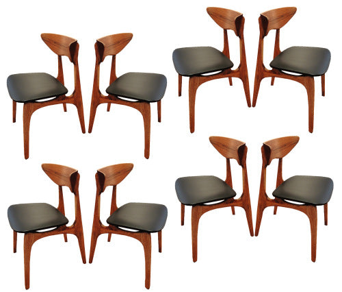 8 walnut chairs