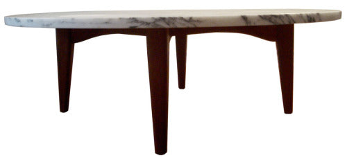 Marble and teak Coffee Table 1-LR