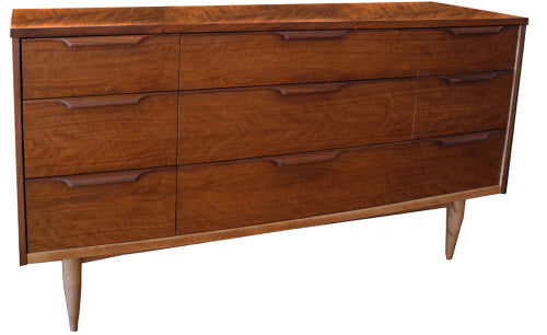 Nine Drawer Walnut Dresser_LR