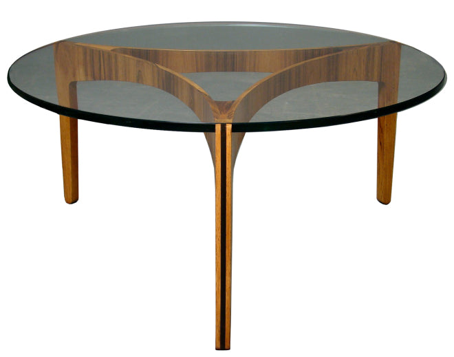 Sven Ellekaer Rosewood_Glass Table