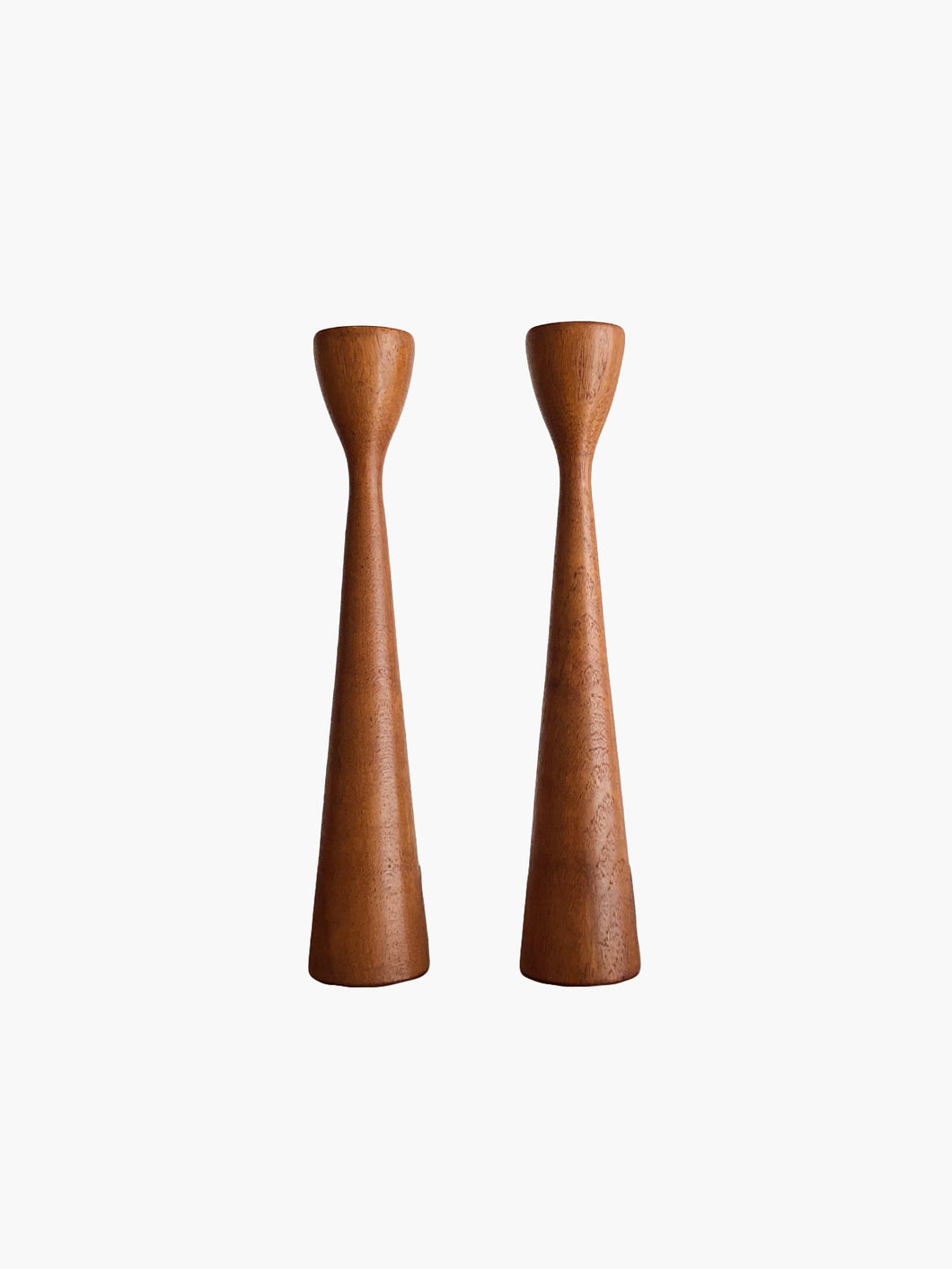 Solid Teak Candle Holders