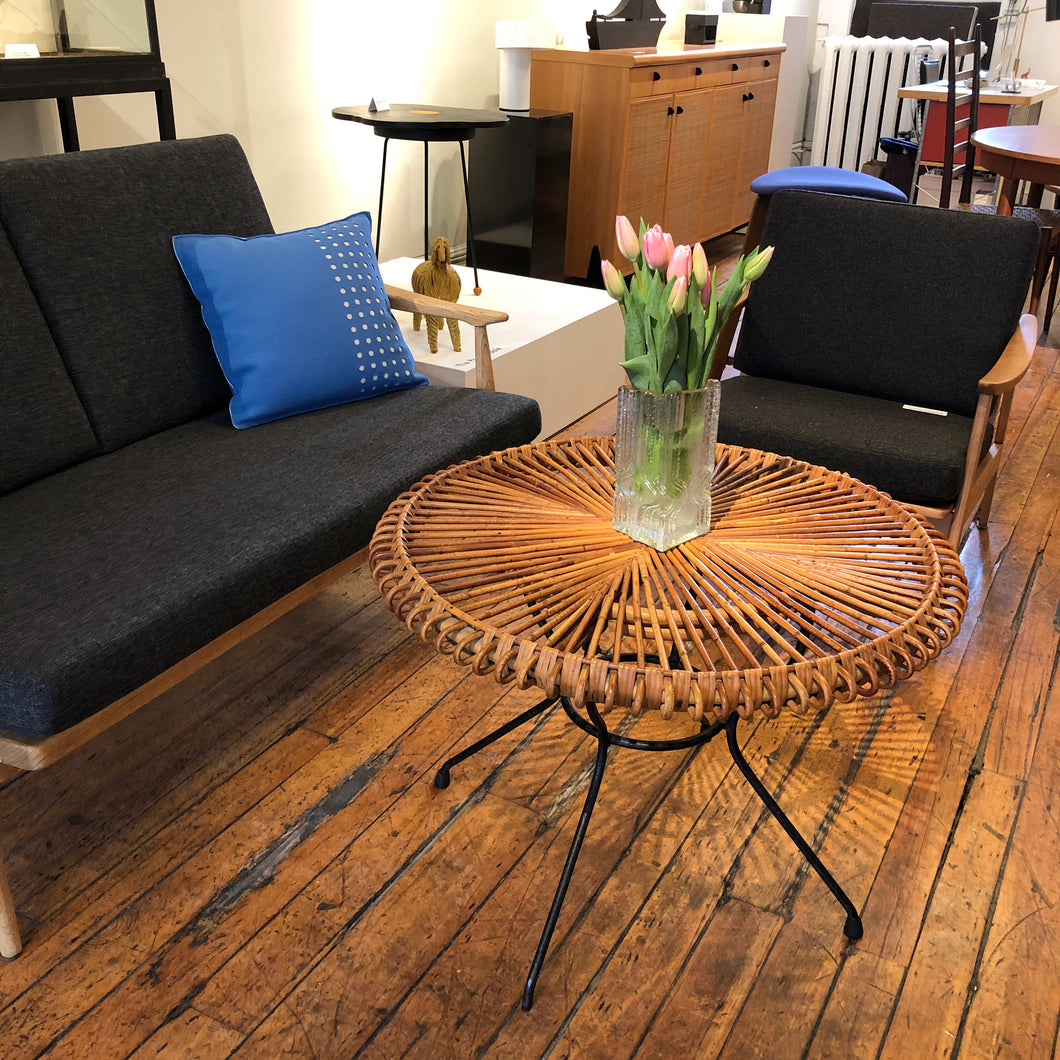 RARE. Albini Rattan Table