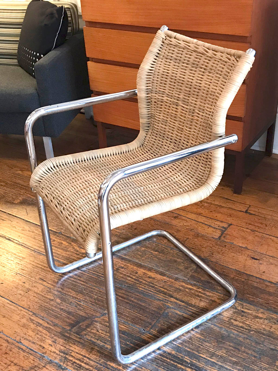 Cane & Chrome Italian Side Chair: SALE