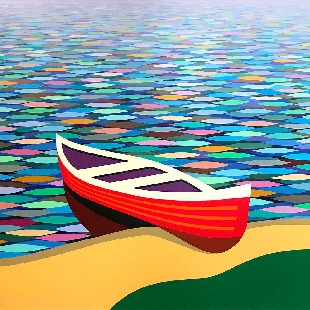 Red Canoe No. 42 by Kurt Swinghammer