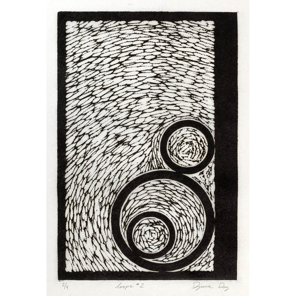 Woodblock Print, Loops #2