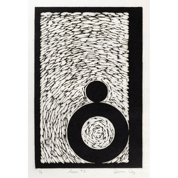 Woodblock Print, Loops #3