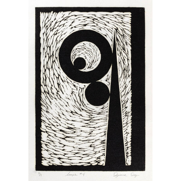 Woodblock Print,  Loops #4