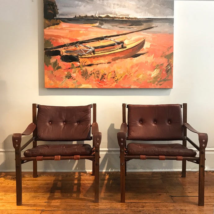 Leather Safari Chairs