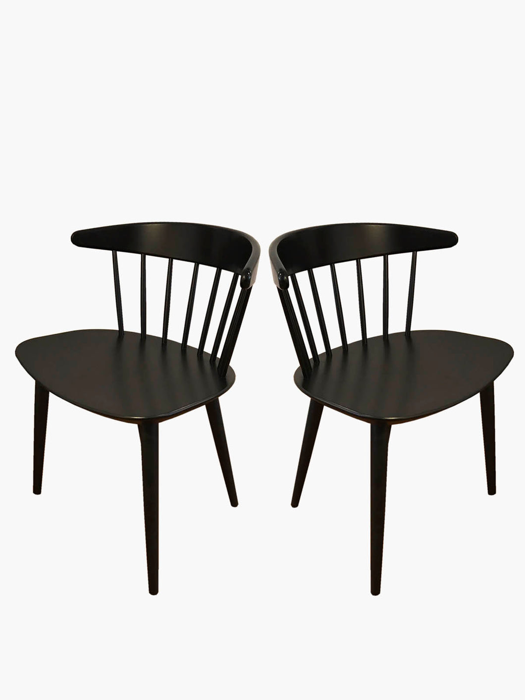 Pair of Black #J104 Chairs