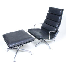 1970s Herman Miller Soft Pad Lounge Chair and Ottoman