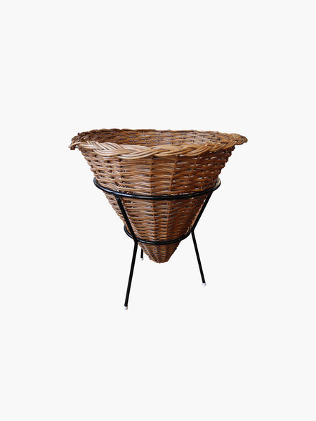 Rare French Modern Wicker Catch All