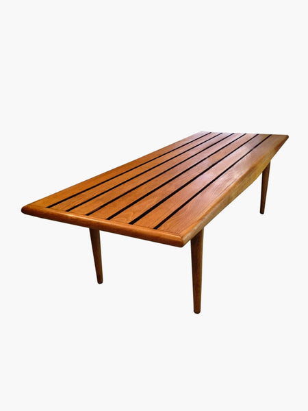 Maple Slat Bench