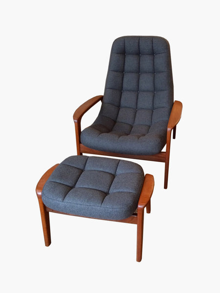 Huber Chair and Ottoman