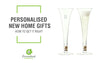 blog cover for new home gifts with personalised champagne flutes