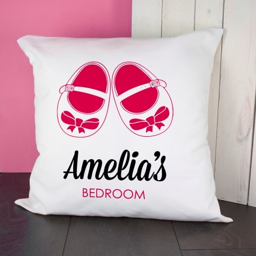 Baby cushion Cover - Shoes Pink