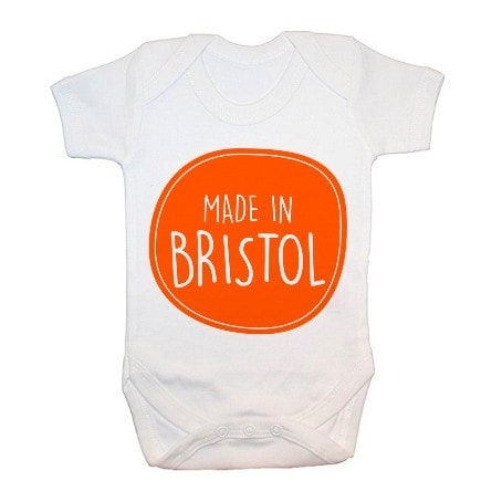 babygrow with made in Bristol motif