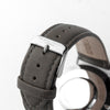 ash watch strap with silver buckle