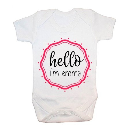 Babygrow with Hello Emma emblem