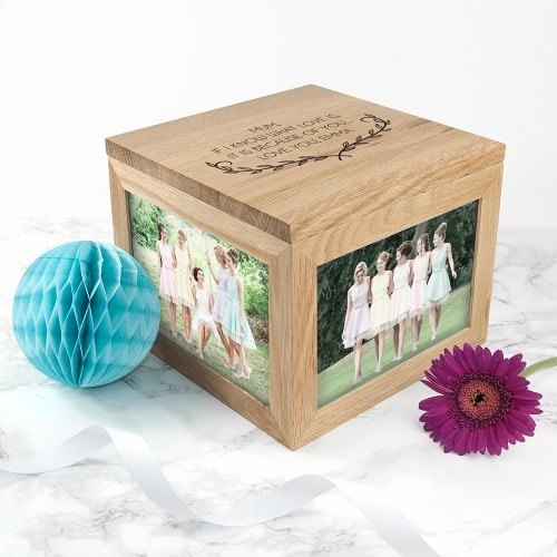 photocube keepsake with mum message and family photos