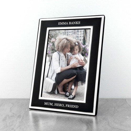 silver and black frame with message for mum to personalise and name